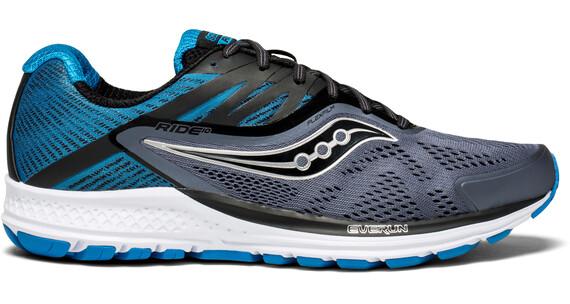 saucony Ride 10 Running Shoes Men grey/black/blue